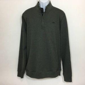 Travis Mathew Mens Sweater XL Gray Long Sleeve CME